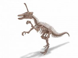 Tsintaosaurus skeleton 3d model