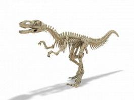 Yangchuanosaurus dinosaur skeleton 3d model