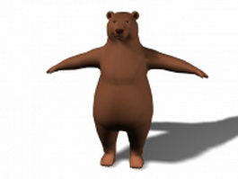 Brown bear cartoon 3d model