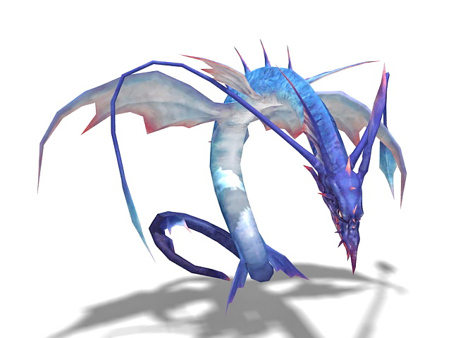 Winged dragon 3d rendering