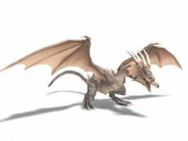 Slavic dragon 3d model