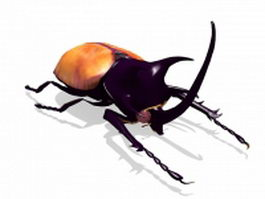 Golden stag beetle 3d model