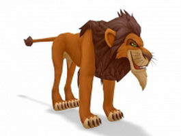 Lion King Scar cartoon character 3d model