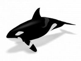 Killer whale 3d model