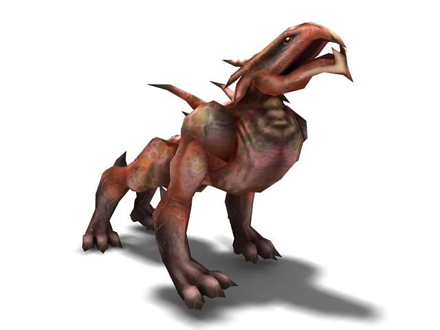 Animated hellhound monster 3d model 3ds max files free for Monster 3d model