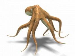Orange octopus 3d model