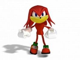 Red Sonic 3d model