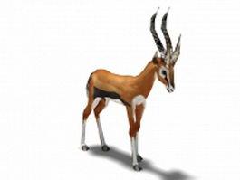 Orange gazelle 3d model