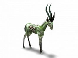 Sickly gazelle 3d model