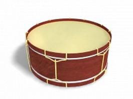 Tambor drum instrument 3d model