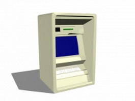 Old ATM machine 3d model