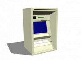Old ATM machine 3d model