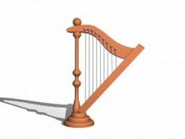 Harp instrument 3d model
