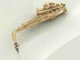 Alto saxophone 3d model