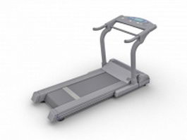 Fitness treadmill 3d model