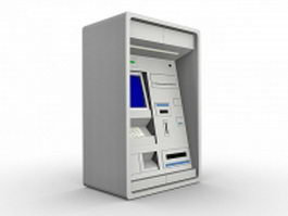 Cash machine 3d model