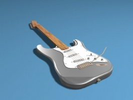 Electric bass guitar 3d model