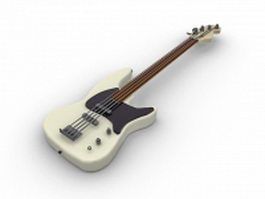 Jazz bass guitar 3d model