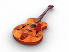 Vintage acoustic guitar 3d model