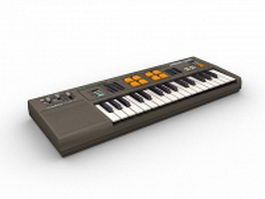 Casio electronic keyboard 3d model