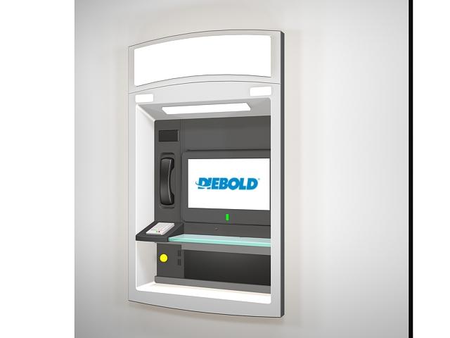 Wall mounted ATM kiosk 3d model