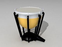 Timpani drum 3d model