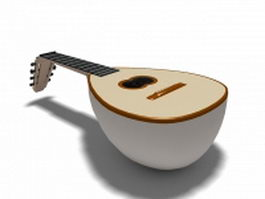 Lute renaissance instrument 3d model