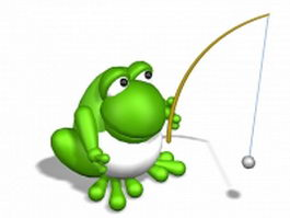 Green frog toy 3d model