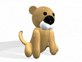 Cartoon baby lion 3d model