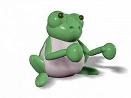 Fighting frog cartoon 3d model