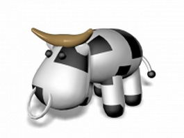 Cute cartoon cow 3d model