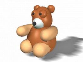 Brown bear cartoon 3d model