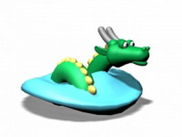 Chinese dragon cartoon 3d model