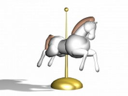 Carousel horse centerpiece 3d model