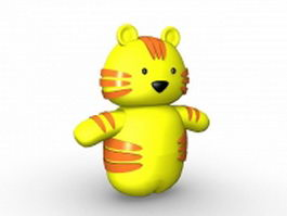 Cartoon tiger toy 3d model