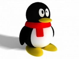Tencent QQ penguin 3d model