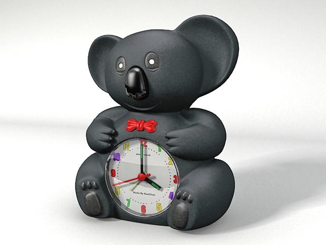 Black Bear Table Clock 3d Model   CadNav