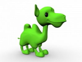 Green camel cartoon 3d model