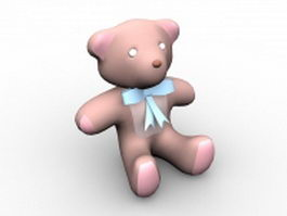 Stuffed animal bear 3d model