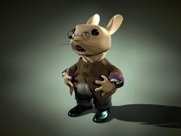 Professor rabbit animation rig 3d model
