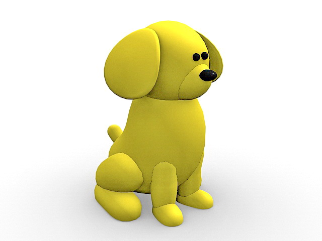 Yellow Dog Cartoon 3d Model 3ds Max Files Free Download