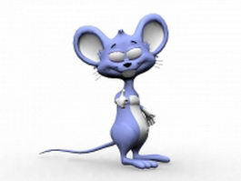 Cute mouse cartoon character 3d model