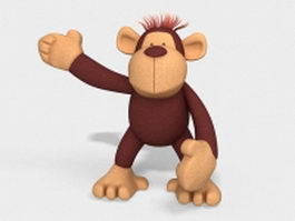 Orangutan stuffed animal toy 3d model