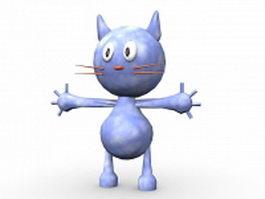 Cartoon cat character 3d model
