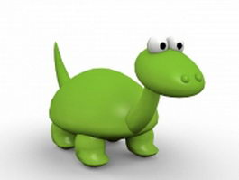 Cute cartoon dinosaur 3d model