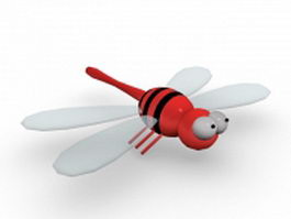 Cartoon dragonfly 3d model