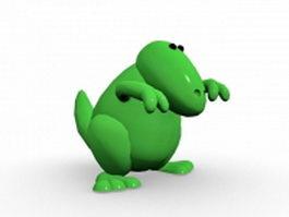 Green dinosaur 3d model