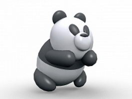 Cute panda cartoon 3d model