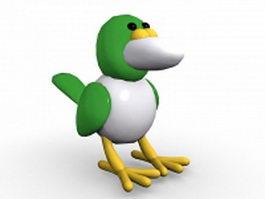 Hummingbird bird cartoon 3d model