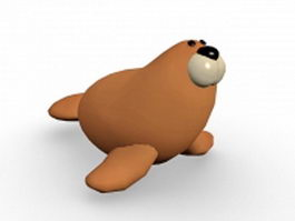 Cartoon sea lion 3d model